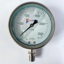 Hakin 4 pulgadas 100 mm de acero inoxidable a prueba de golpes el manómetro de aceite de silicona rellena de líquido de alta temperatura anticorrosivo de montaje inferior Australia
