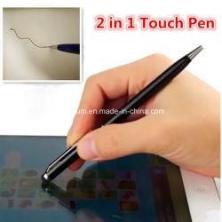 Kundenspezifisches Firmenzeichen 2 in 1 Miniuniversaltablette-Noten-Schreibkopf-Feder-Zeichnungs-Kugel-Feder für iPad iPhone Handy-Laptop-Bildschirm