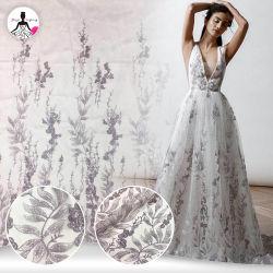 Neue Ankunfts-empfindliches wulstiges weiches Tulle-Spitze-Gewebe-Hochzeits-Kleid