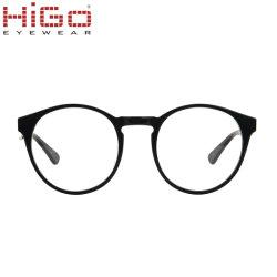 A moda entre homens e mulheres Óculos Círculo óculos de acetato de lente óptica Armações de óculos