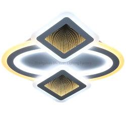 Nouvelle fonction avec télécommande Fonction 4 roues de gradation 2.4G Design plafonnier à LED avec 3D Effet miroir décoration