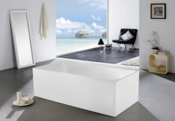 Acrílico independiente moderno bañera independiente Grifo de latón de mezclador&