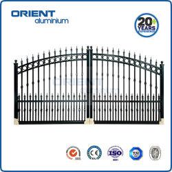 Preço competitivo portão principal de alumínio ornamentais com todos os acessórios