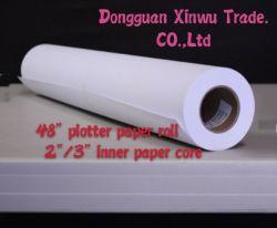 Sem revestimento branco Plotter CAD Paper 70gsm para a capa impressão CAD