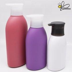 Venta caliente Custom 350ML 500ml 700 ml PE Ovalados envases cosméticos Body Wash Botella de plástico