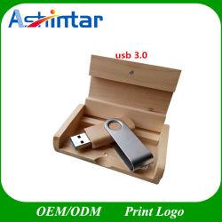 USB3.0 플래시 디스크 우드 플래시 메모리 메탈 스위블 USB 스틱