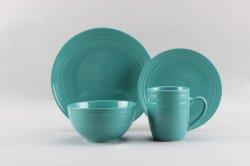 Umweltfreundliche keramische Steingut-Abendessen-Sets für Esszimmer-Porzellan-Teller-Aufladeeinheits-Platte