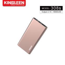 De draagbare Bank van de Macht van de Lader 6000mAh met 2.1A Pak van de Batterij van de Output het Externe voor iPhone, iPad