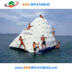 Jeux d'eau gonflable gonflable Mur d'escalade pour les adultes iceberg flottant