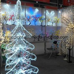 2m de haut Feux d'arbre décoratif décoration des arbres de Noël de cristal à LED
