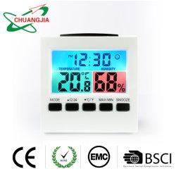 Sveglia dello scrittorio del regalo con la visualizzazione di umidità e di temperatura