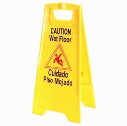 O plástico amarelo segurança a bordo sinal de piso Sinal de Cuidado em GUANGZHOU