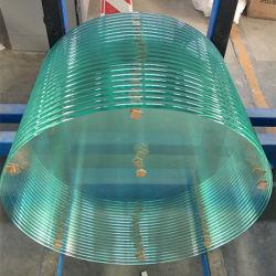 La Chine bord poli plat rond en verre trempé de gros de Table
