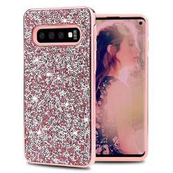 La galvanoplastie Shock-Proof TPU avec Diamond cas Téléphone pour Samsung S10