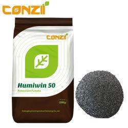 Humic Extacts 80 % 50 % d'acide fulvique soluble dans l'eau acide humique humate de potassium de l'engrais