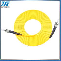 Cordon de raccordement à fibre optique SC simplex de gros d'usine/APC Câble cavalier optique