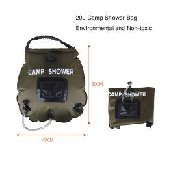 20L屋外旅行キャンプ水記憶のシャワー袋