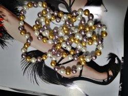 Multyカラー真珠140cmのネックレスの方法宝石類の宝石類の珠玉はカスタマイズした