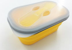 Junta de Silicone Caminhadas Lancheira /Dobragem recipientes alimentares da Caixa de Armazenamento