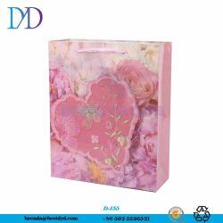 De haut grade Rose Boîte cadeau Saint Valentin emballages papier Sac pour belle dame