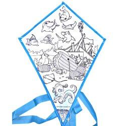 Cervo volante in bianco dell'illustrazione della mano di abitudine DIY dalla fabbrica del cervo volante
