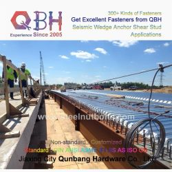 Qbh fabriqués en Chine acheter en vrac Bulkbuy Structure en acier arc Structual Souder le goujon de cisaillement de la vis d'ancrage de filtre en coin sismiques de la route du Pont de bateau du matériel de fixation de la construction navale