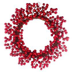 [بكب] اصطناعيّة عيد ميلاد المسيح أكليل مع زهرة ورقة حمراء لعرى
