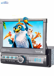Betterway 7 '' 1 macchina fotografica ritrattabile di retrovisione di collegamento dello schermo di tocco del giocatore del video DVD MP5 dell'automobile di BACCANO USB/TF/FM/Bt/Mirror
