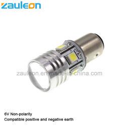 6V non lampadina luminosa eccellente di bianco LED di polarità 1157 con l'obiettivo del proiettore per i veicoli dell'annata