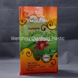 Venta al por mayor fabricantes de impresión de la bolsa de tejido de polipropileno laminado para paquete de fertilizantes