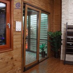 Алюминиевые деревянные закаленного стекла боковой сдвижной двери безопасности внутреннего заднего хода