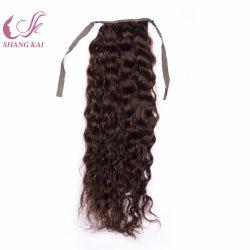 Les cheveux bouclés mongol Queue de Cheval Pièce serrée Curl Cheveux humains réels