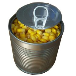 Las conservas de maiz dulce enlatado/granos de maíz dulce