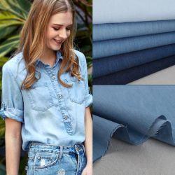 100% Algodón Denim tejido camisa falda/vestido//Jeans