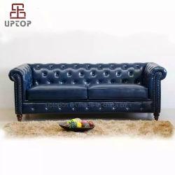 [هي ند] رفاهية يعيش غرفة أريكة جلد ينجّد شسترفيلد أريكة