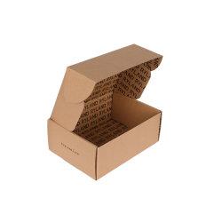 Plat de haute qualité expédition pliable Boîte de papier ondulé kraft blanc