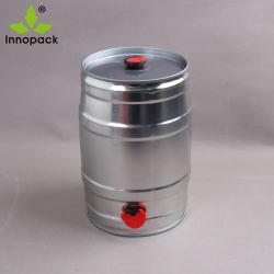 EDELSTAHL-Bier-Großhandelsfaß 5 Litersuzhou-gedrucktes Homebrew Minimit Schliessen und Hahn