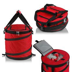 24 缶ポップアップ式クーラーバッグ - 軽量、絶縁、防水、ポータブル、折りたたみ式 - 旅行、ピクニック、ハイキング、キャンプ、バーベキュー用