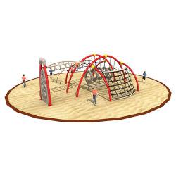 Детская игровая площадка для использования вне помещений скалолазание структуры слайд детей физической подготовки оборудования джунглей Тренажерный зал