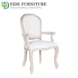 Parte traseira do ventilador Antigo Design Madeira Cadeira de refeições para cadeiras de cozinha