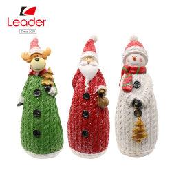 Juego de 3 Polyresin figurita de muñeco de nieve de Navidad para el Hogar y Jardín Decoración