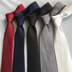 Várias cores populares Tecidos de seda simples gravata
