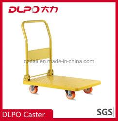 Fabbrica della Cina che piega la carriola dinamica di trattamento portatile del caricamento del carrello a base piatta