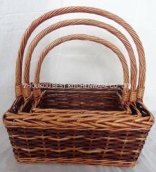Alimentação de fábrica Wicker Willow Uso da cesta de frutas flores e presentes