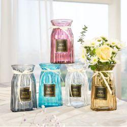 Цветные пустой цветочный декор вазы из стекла для гостиной декоративной стеклянный кувшин/изображение большего размера
