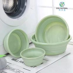 حوض غسيل متعدد الوظائف قابل للطي حفظ المساحة البلاستيكية المحمولة المثبتة على الحائط حوض غسيل الحمام