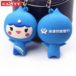 cadeau de promotion du caoutchouc mignon Trousseau 3D en PVC souple porte-clés