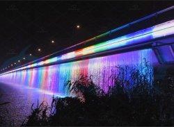 Mudança de cor Ponte decorativos exteriores a cortina de água& Cascata