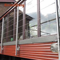 Corrimão de cabo da placa com Corrimão de arame de aço inoxidável para varanda exterior
