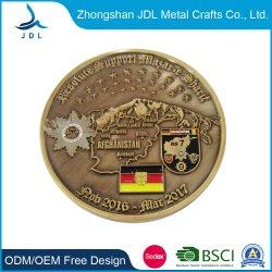 Kundenspezifische Zink-Legierung Medallion Gold Navy Challenge Silber Goldmünze Mit aushohler Logo-Aushöhl (199)